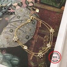 S'STEEL Snowflake925 Sterling Silver Bracelet For Women