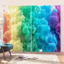 Занавески rainbow bomb занавески с красочными облаками и дымом