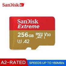 Flash 256gb 64gb sdxc 128 carte microsd u3 class10 v30 a2 para gopro 4k uhd vida sandisk carte mmoire extrme UHS-I gb tf carte