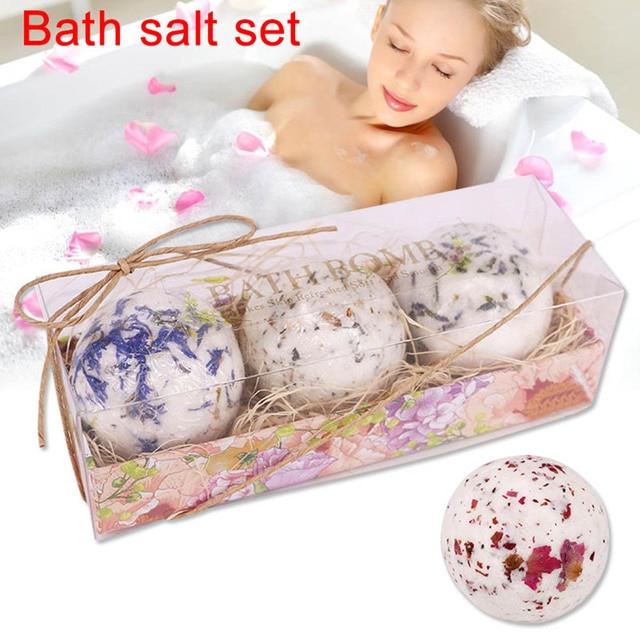 New 3pcs Bath Salt Ball Flower Bubble Whitening Moisturize SPA Relaxation Gift SCI88 2