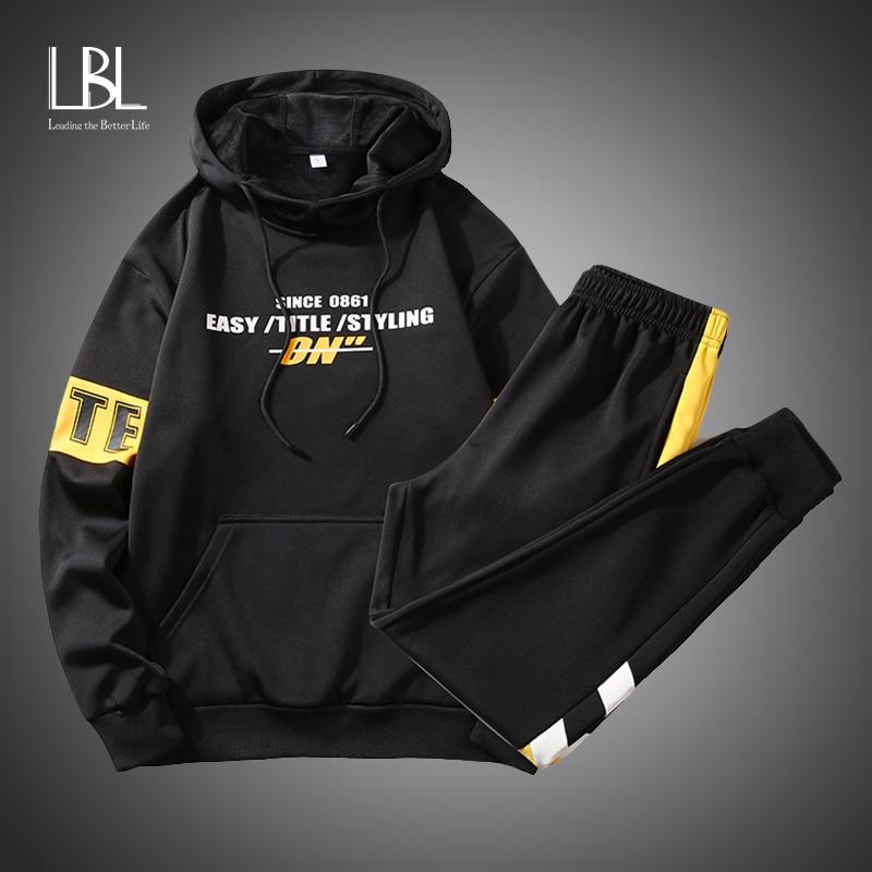 Oversized Men's Hoodies 2020 Men Hip Hop Print Sweatshirt Male Harajuku Japanese 2PCS Streetwear Anime Hoodie Men Sweatshirts
