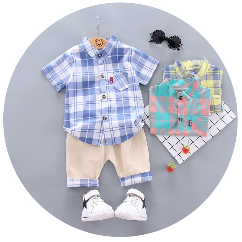 2020 summer  Boys shirt and Shorts Pants 2 pieces Clothing sets children's clothing Baby Boys clothes Children's Clothes Sets 3