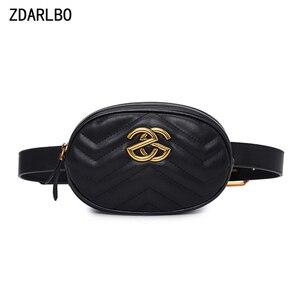 Image 1 - Alta qualidade das mulheres fanny pacote de couro do plutônio saco da cintura feminina banana cinto bolsa ombro crossbody sacos peito designer luxo bolsa