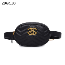 High Quality Women Fanny Pack PU Leather Waist Bag Female Banana Belt Bag Shoulder Crossbody Chest Bags Designer Luxury Handbag