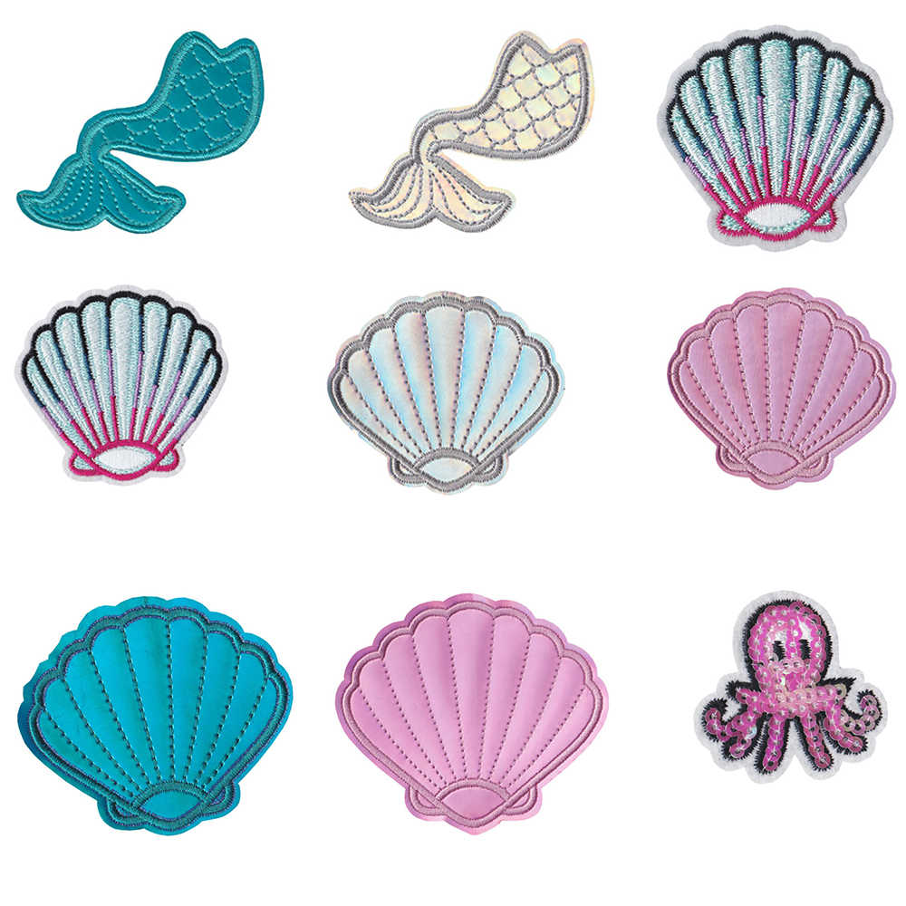 Shell Set Application for sewing and ironing on Shell Set Embroidery application