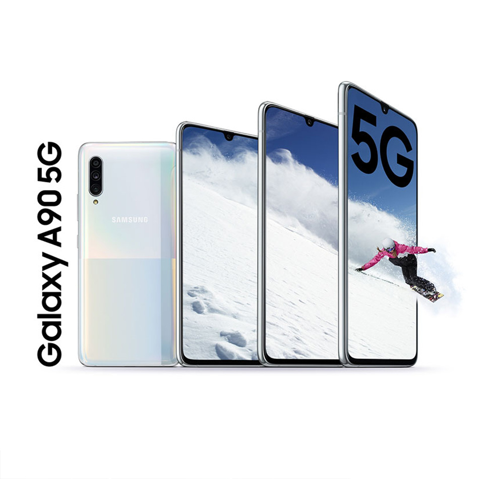Мобильный телефон samsung 5G samsung Galaxy A90 Snapdragon 855 8 Гб 128 ГБ A9080 6,7