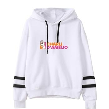 charli damelio merch Sweatshirt Men/Women Print Ice Coffee Splatter Hoodies Fashion Hip Hop hoodie Pullovers Tracksuit Clothes 22