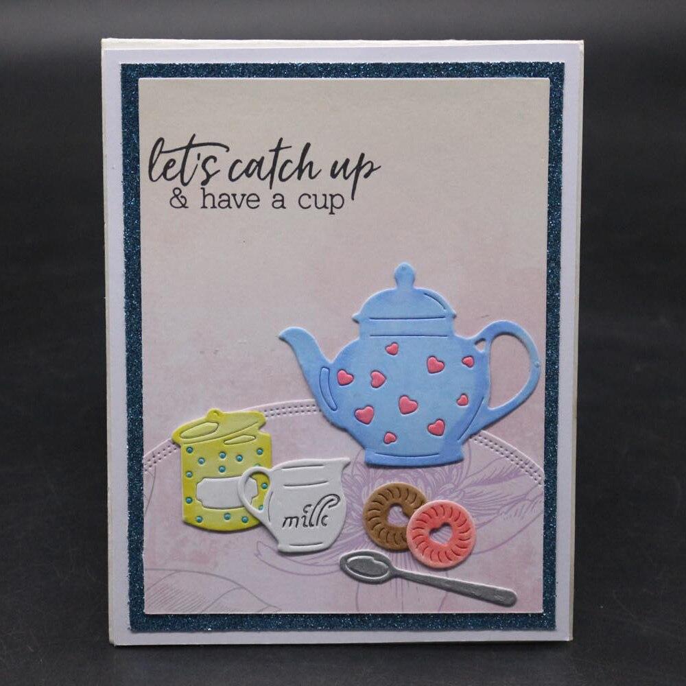 Teacup Teapot Craft Metal Cutting Dies Cut Die mold Flower Scrapbook Paper Craft