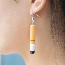 Новые креативные забавные серьги в виде сигарет хит продаж женские
