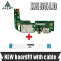 Оригинал с кабелем для For Asus X555 X555L X555LD X555LD_IO USB аудио кард-ридер плата REV: 2,0 MB 100% Протестировано Быстрая доставка