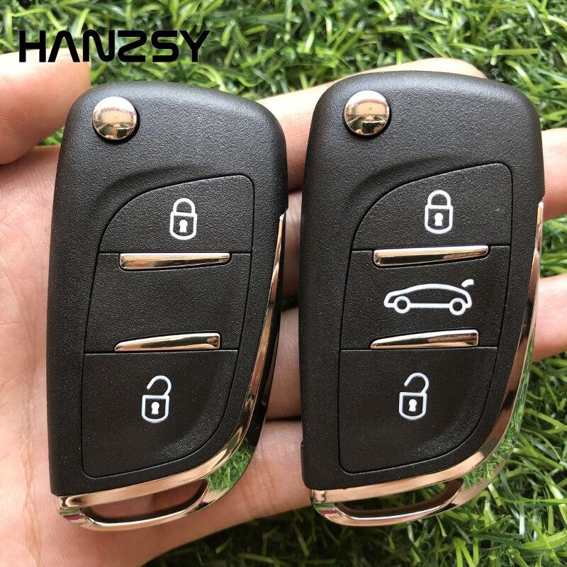 2/3 Кнопка автомобильный Корпус ключа для peugeot 407 607 306 408 CITROEN C5 C3 C4 изменение складной флип ключ крышка чехол HU83/VA2 лезвие CE0536