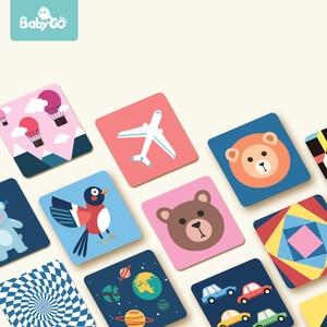 Image 1 - Babygo 80 pces conjunto bebê aprendizagem cartão brinquedos frutas/animal/vida excitação visual educação precoce cartão para crianças flash cartões