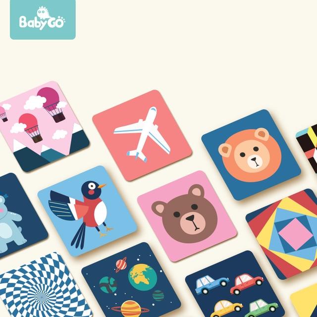 Babygo 80 個セットベビー学習カードおもちゃフルーツ/動物/ライフ視覚励起カード早期教育子供のためのフラッシュカード
