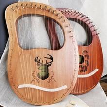7/10/16 strunowe drewna Lier harfa drewniany Instrument muzyczny mahonyego stałe harfa instrumentów