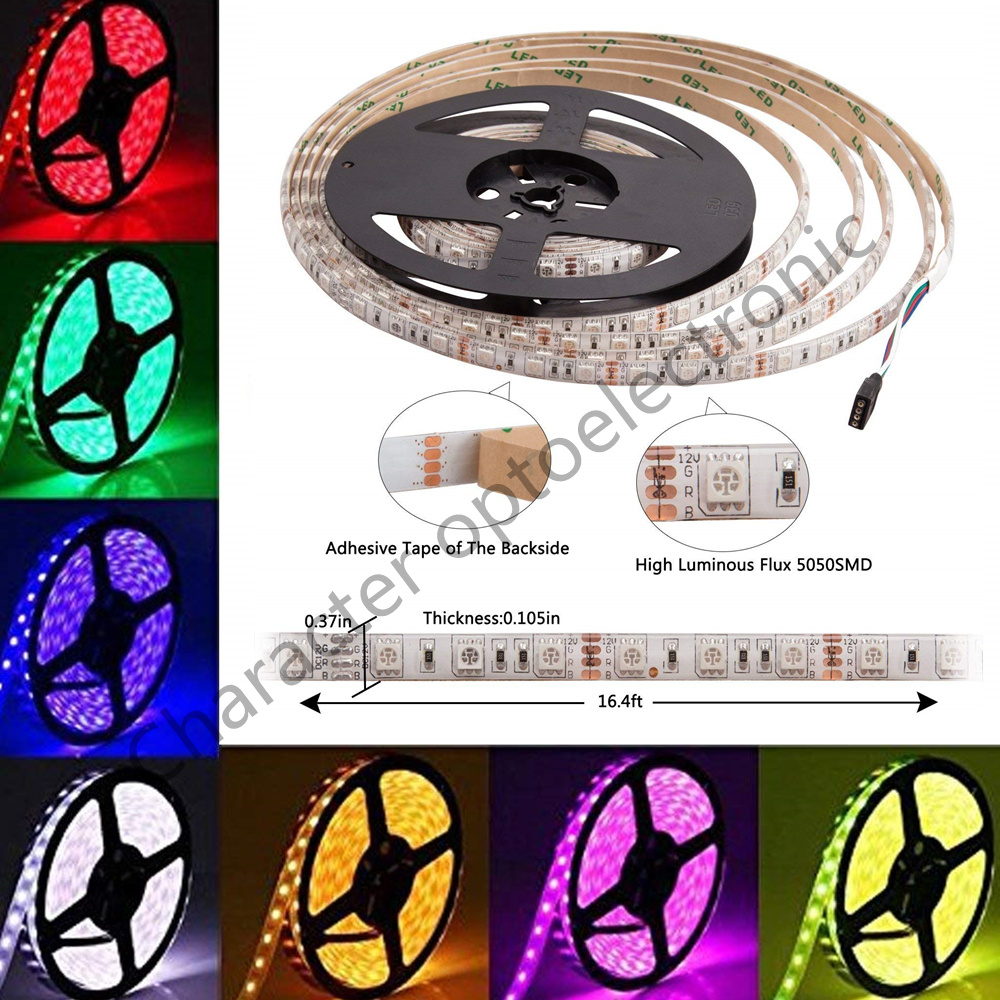 24V LED Strip 5050 DC 24V RGB WarmWhite 24 V 5 Meter Waterproof Flexible Light Stripe 60Led/m Led Tape Lamp Ribbon Tv Backlight