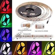 Bande lumineuse flexible et étanche 5050, 24 V DC 24 V RGB blanc chaud 24 V 5 mètres, ruban lumineux 60/m, rétro-éclairage de télévision