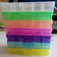Пластиковая 10 слотов регулируемая коробка для хранения ювелирных изделий таблетки бусины держатель, чехол, Органайзер