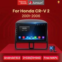 Junsun-Radio Multimedia V1 con GPS para coche, Radio con reproductor, Android 10,0, DSP, CarPlay, estéreo para coche, para Honda CRV 2 2006-2012, 2 din, dvd