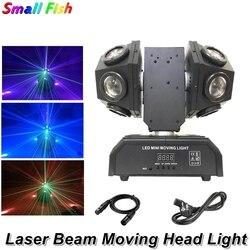 12X10W podwójne ramiona wiązki światła DMX512 ruchome głowy światła piłka nożna DMX512 światło laserowe DJ/Bar/Party /Show/etap światła laserowego Dj w Oświetlenie sceniczne od Lampy i oświetlenie na