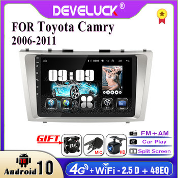 Develuck 2 din Android car Radio multimedia Player For Toyota Camry 6 XV 40 50 2006 - 2011 Auto 2din stereo DVD GPS Navigation image