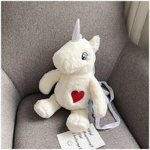купить Plush Women's New Style-Korean-Style Versatile Cute Adorable Plush Toy Unicorn Shoulder Bag Lovely Messenger Crossbody Bag по цене 1128.07 рублей