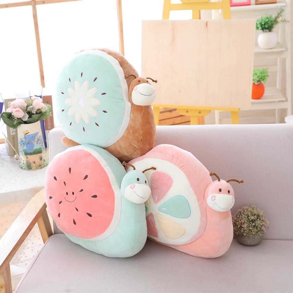1PCS 40cm cute snails plush doll fruit snails plush toys creative snails plush toys kids toy Cushion Stuffed Gift Doll for Kids
