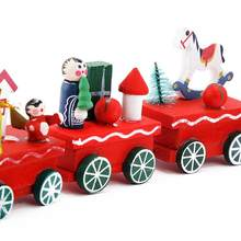 Mini Christmas Wooden Toys Train Christmas Innovative Gift Kid Toys For Children Gifts Diecasts Toy Vehicles(China)