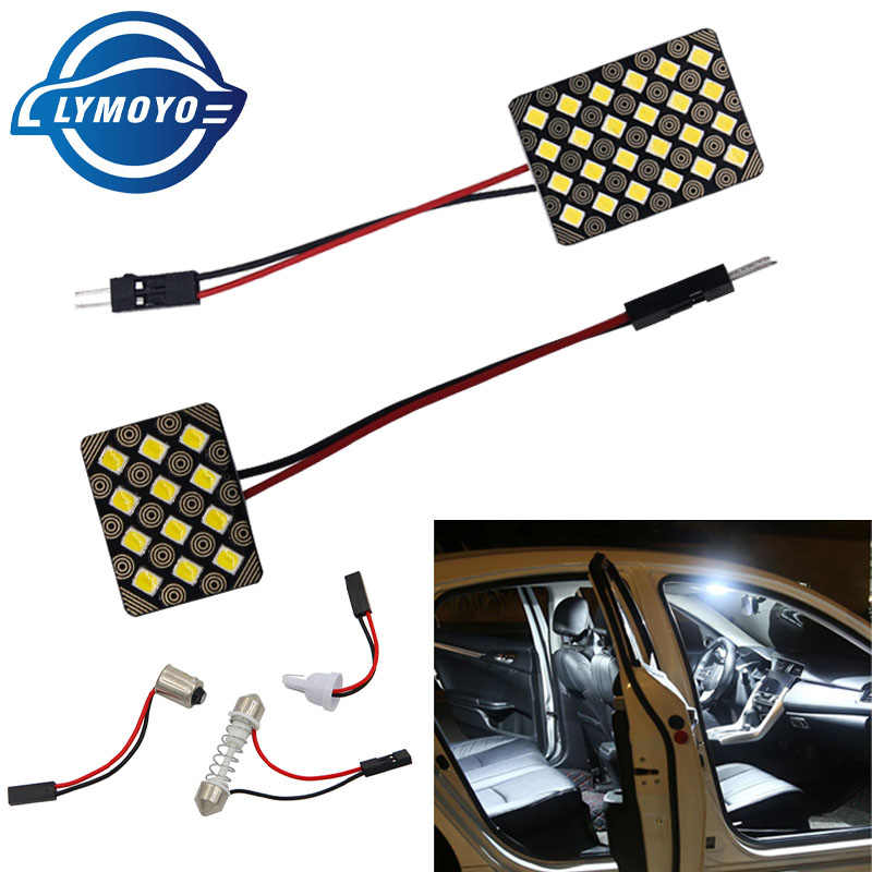 LYMOYO T10 2835 ba9s 12/24SMD Car Led with 3 Adaptor Vehicle Panel Lamps Auto Interior Reading Lamp Bulb Light Dome Festoon 12v