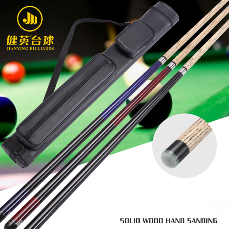 NEW Jianying Ash Break Cue Pool Red Black Blue Color Pool Cue Case Set China