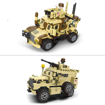 Building Technic WW2 Armored Car Modern Military Armed Armas Forces Block United States Navy Seals Figures Toys Weapon Troopers united states military armed forces full size ribbon us merchant marine expeditionary
