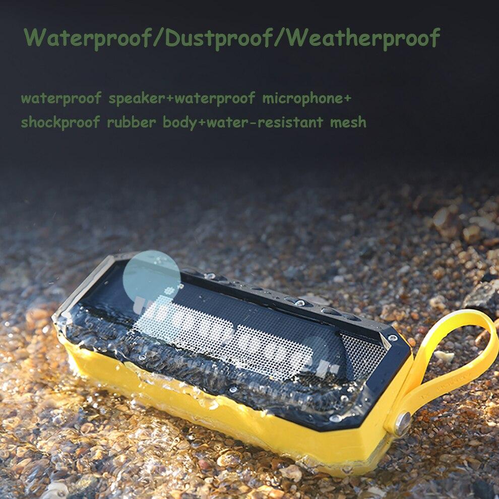 Imperméable à l'eau Portable Bluetooth haut-parleur conception Durable antichoc arrière-cour extérieur voyage piscine maison fête camp randonnée douche bain