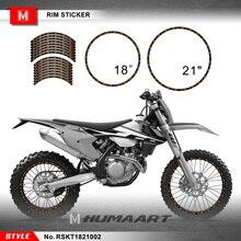 HUMAARTสิ่งสกปรกจักรยานล้อRim Sticker Tape 21 X 18 21X18นิ้วOff RoadไวนิลสำหรับMX Dirt Bike Off Road