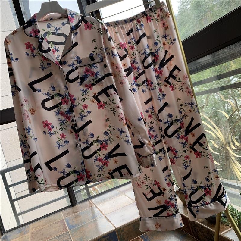 Youhottest Women Silk Satin Pajamas Set Luxury Pyjamas Set Sleepwear 2020 New