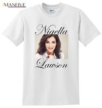 Nigella Lawson T-shirt,English journalist, broadcaster, television personality Men T-Shirt Lowest Price 100 % Cotton Simple