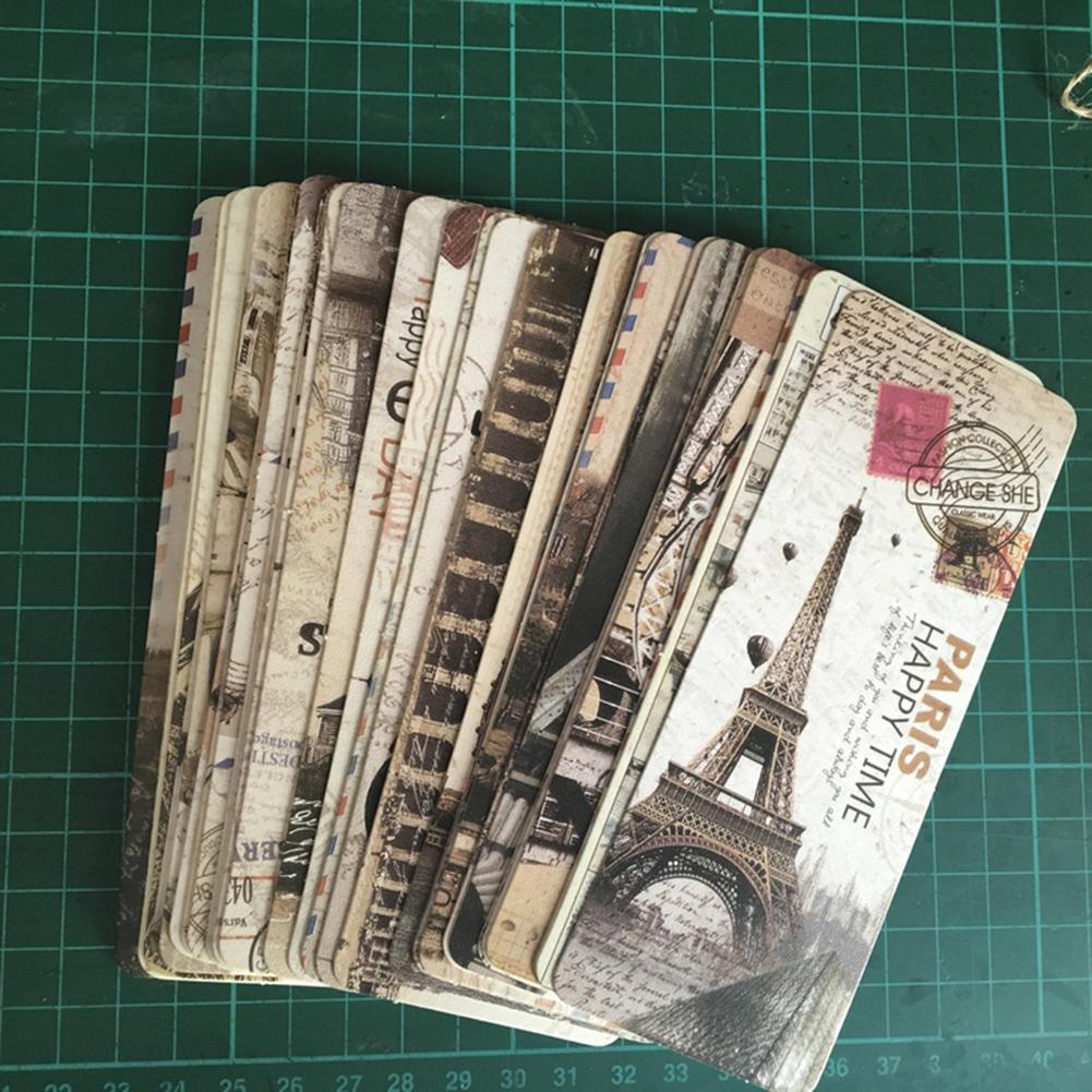 30Pcs/Set Vintage Exoticism Paper Bookmarks Stationery Gift School Supplies