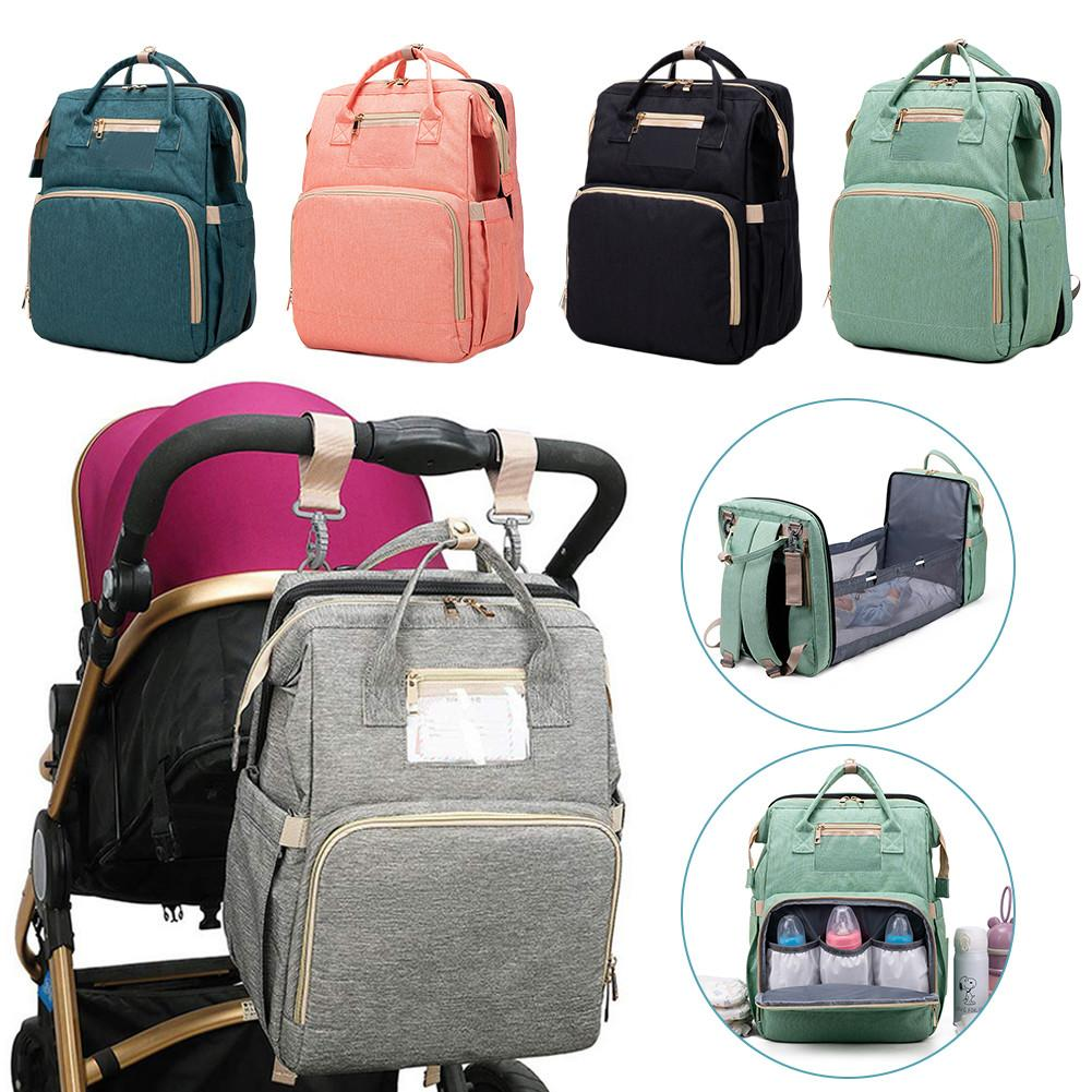 Multifunctional Portable Diaper Bag Baby Travel Backapack Baby Bed Diaper Changing Table Pad For Mom Dad Baby Nappy Bag