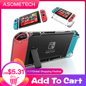 Image 1 - Detachable Crystal PC Transparent Case For Nintendo Nintend Switch NS NX Cases Hard Clear Back Cover Shell Coque Ultra Thin Bag