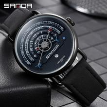 SANDAชายแบรนด์หรูใหม่นาฬิกากันน้ำนาฬิกาควอตซ์ชายChronographทหารนาฬิกาข้อมือนาฬิกาRelogio Masculino P1030