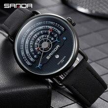 SANDA חדש יוקרה מותג גברים שעונים עמיד למים קוורץ שעון זכר הכרונוגרף צבאי שעון שעון יד Relogio Masculino P1030