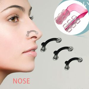 1 Set Beauty Nose Up Lifting Shaping Clip Clipper Shaper Bridge Straightening 3 Size Nose Clip Corrector Massage Tool No Pain