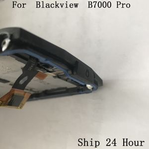 Image 5 - الأصلي Blackview BV7000 برو تستخدم شاشة الكريستال السائل شاشة تعمل باللمس الإطار واجهة المطاط سدادة ل Blackview BV7000 برو