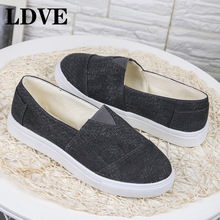 Fashion Women Loafers Vulcanize Shoes Canvas Sequins Sneakers Shoes Ladies Slip On Breathable Shallow Casual Flats Shoes недорого