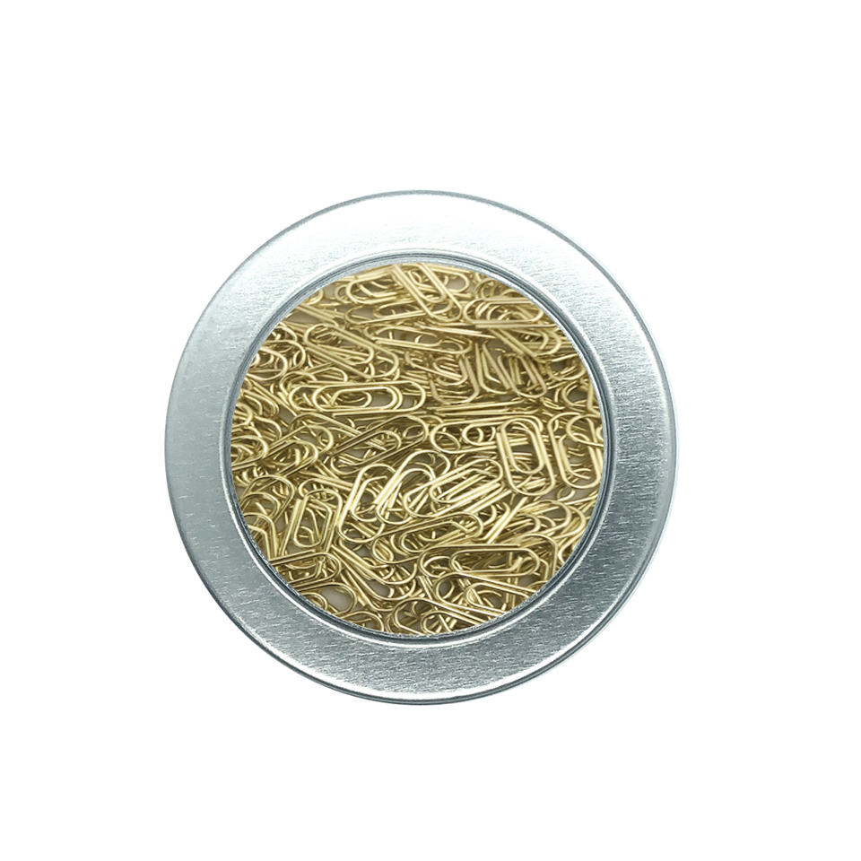 200 Count Gold Mini Paper Clip Super Cute Tiny Paperclips 3//5 Inch Stainless Steel in Silver Tinplate Paper Clips Holder for Office School Home Desk Organizers Gold Mini Paper Clips