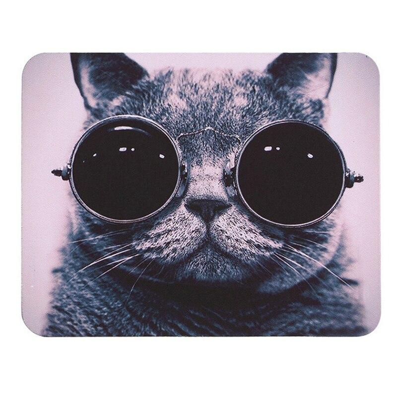Купить 1 шт игровой коврик для мыши милые солнцезащитные очки кот нескользящий