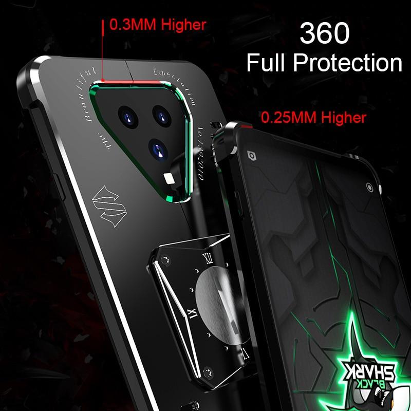 Metal Black Shark 3 Case For Xiaomi Black Shark 3 Pro Case Shockproof Aluminum Back Cover Coque For Black Shark 3 Pro Funda Case