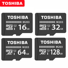 Original TOSHIBA Micro SD Card M203 Class 10 16GB 32GB 64GB 128GB 256GB Memory Card SDHC SDXC UHS I TF Card For Smartphone/TV