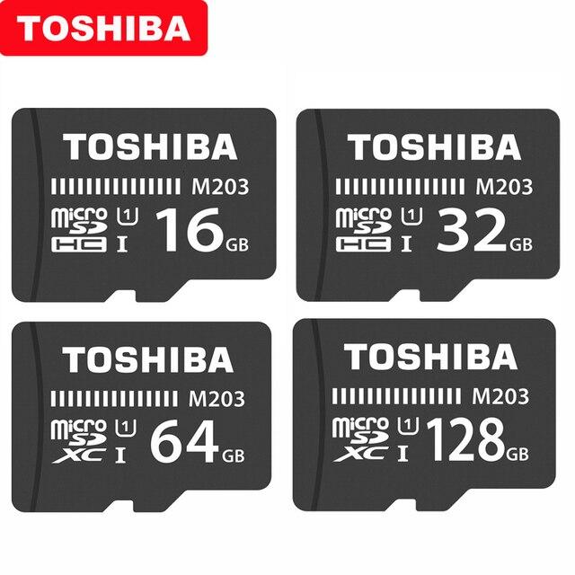 Original TOSHIBA Micro SD Card M203 Class 10 16GB 32GB 64GB 128GB 256GB Memory Card SDHC SDXC UHS I TF Card For Smartphone/TV