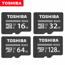 Oryginalna karta micro sd TOSHIBA M203 klasa 10 16GB 32GB 64GB 128GB 256GB karta pamięci SDHC SDXC UHS I TF karta do smartfona/telewizora