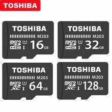 מקורי טושיבה מיקרו SD כרטיס M203 כיתת 10 16GB 32GB 64GB 128GB 256GB זיכרון כרטיס SDHC SDXC UHS I TF כרטיס עבור Smartphone/טלוויזיה