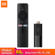 Clé TV intelligente Xiaomi Mi, Android 9.0, Quad Core, Chromecast, Netflix, 1 go, 8 go, décodage Audio HD 1080P, version internationale
